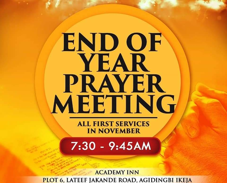 End of the Year Prayer Meeting 2018 2