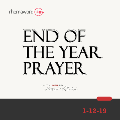 End Of The Year Prayer III